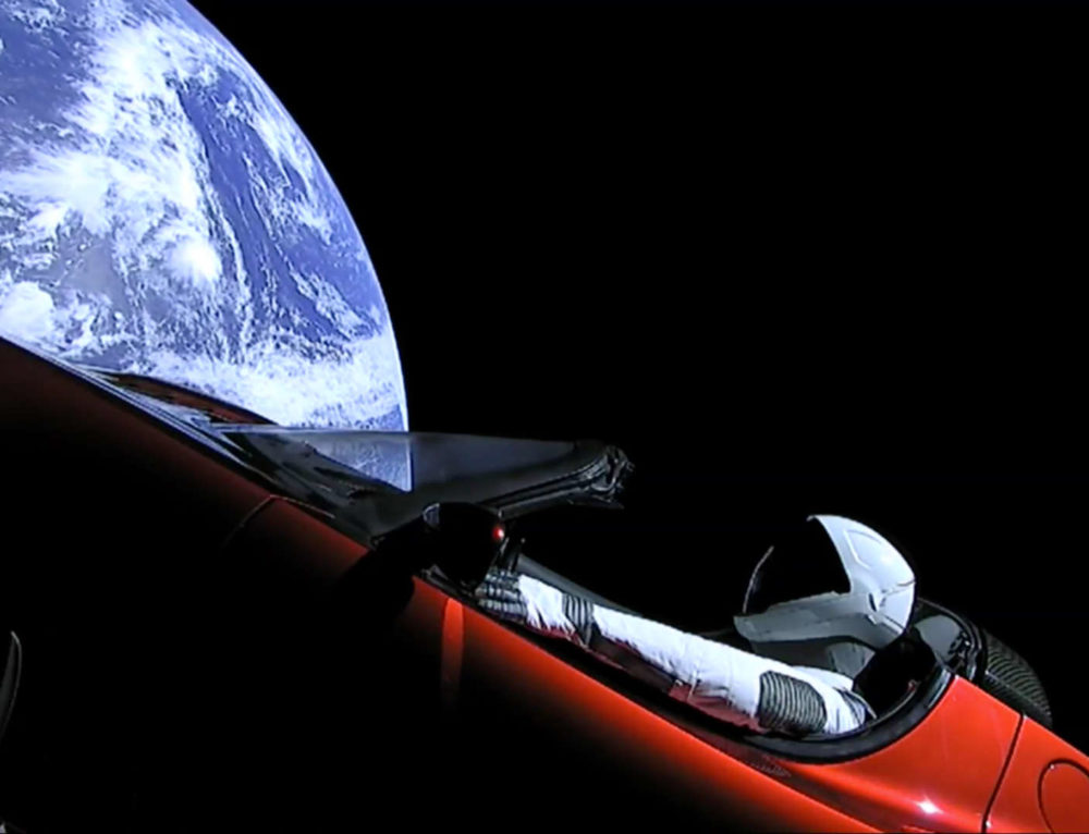 Starman Headed for Mars – Awesome and Inspiring!